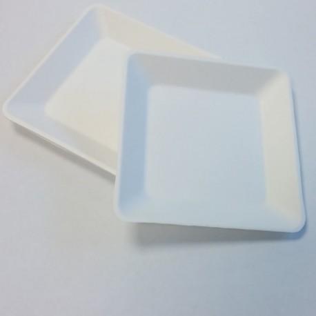 Assiette carrée pulpe 160x160mm