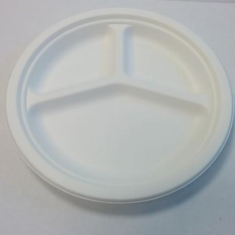 Assiette ronde 3 composants pulpe Ø260mm