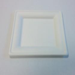 PS20 - Assiette carrée pulpe 200x200mm