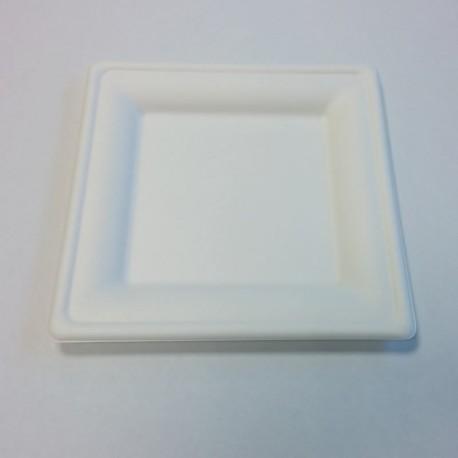Assiette carrée pulpe 200x200mm