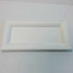 Assiette rectangulaire pulpe 260x130mm